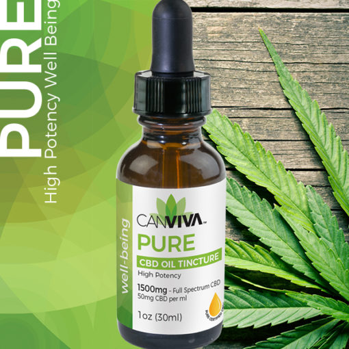 CANVIVA CBD Oil PURE Tincture 1500mg High Potency for well-being