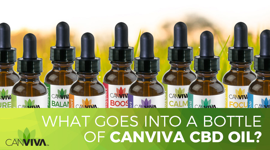What goes into a bottle of CANVIVA CBD OIL?